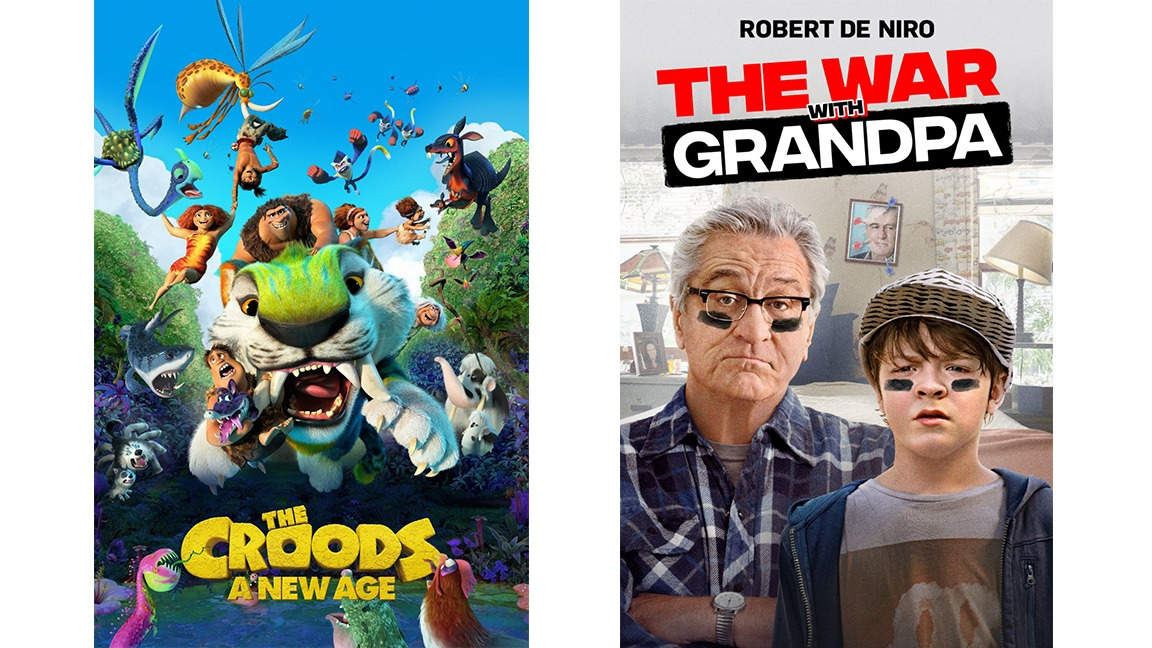 Now Showing - The Croods 2 and The War with Grandpa