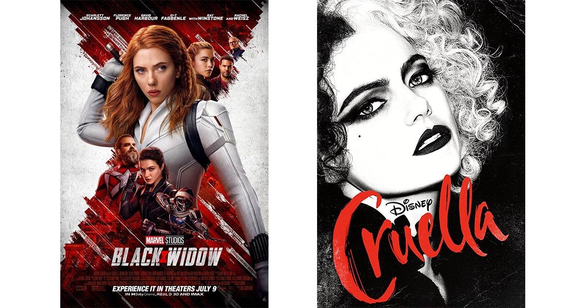 Black Widow and Cruella