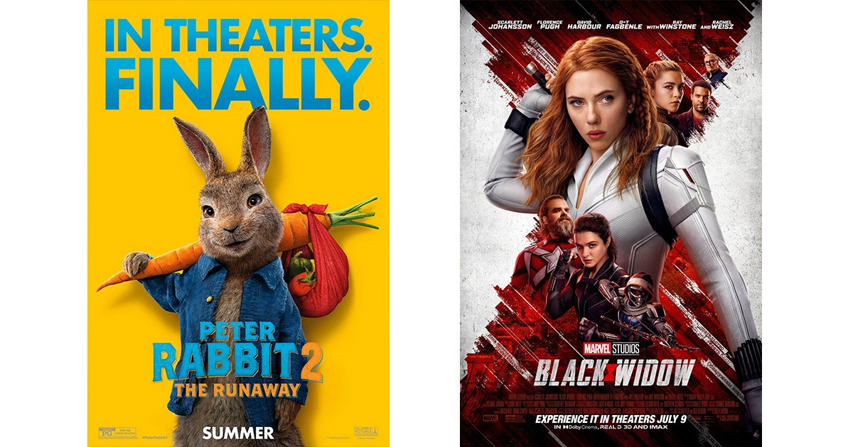 Peter Rabbit 2 and Black Widow