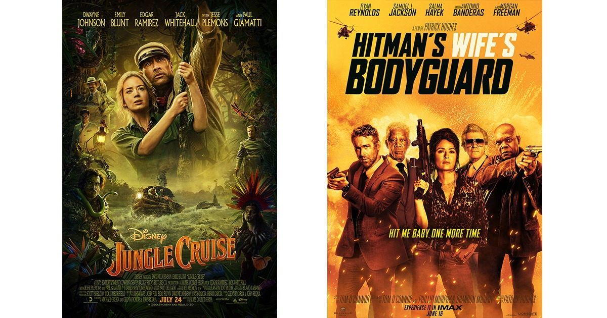 Jungle Cruise and Hitman's Wife's Bodyguard